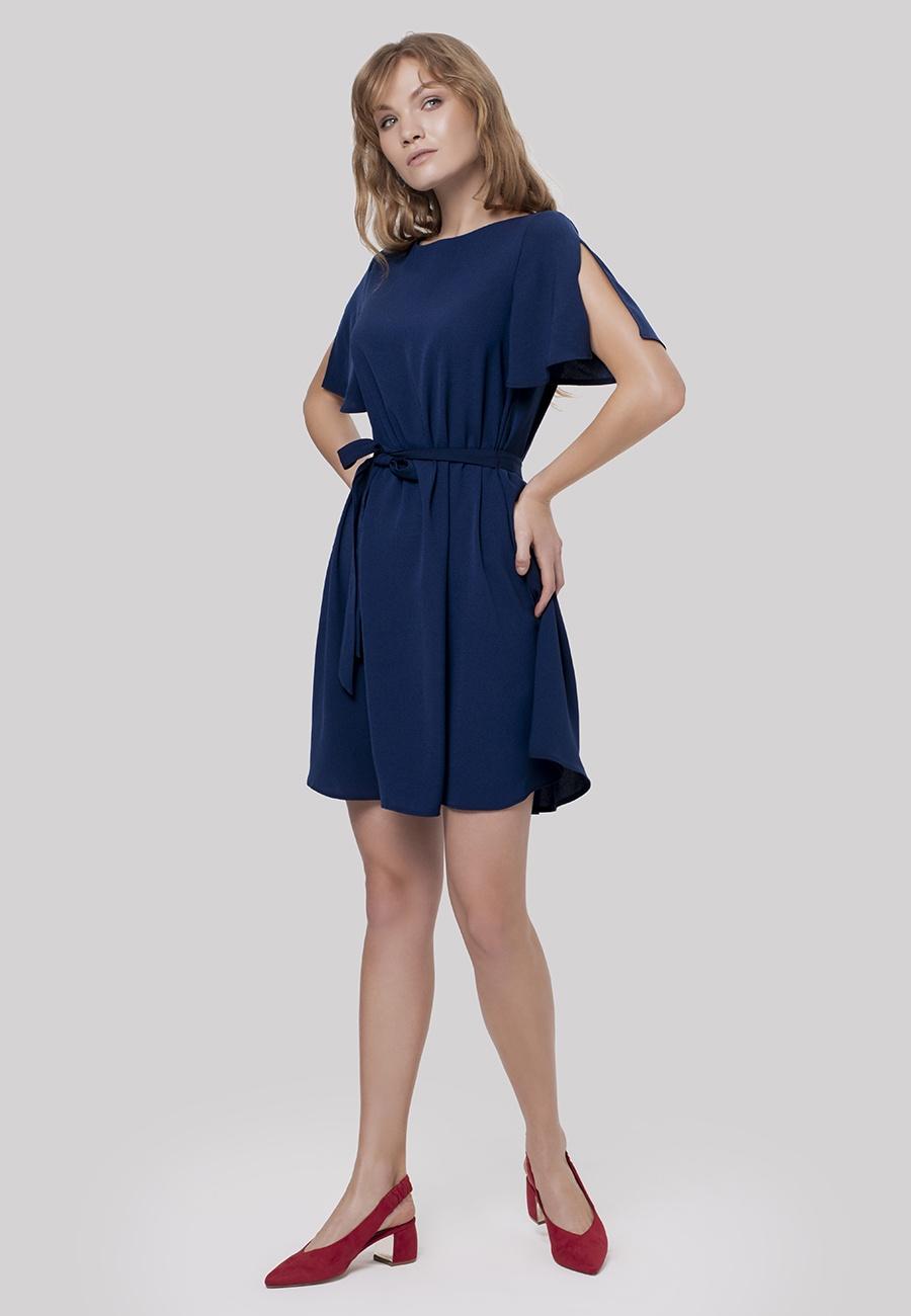 Платье Valkiria 12storeez платье с одним рукавом тёмно синее