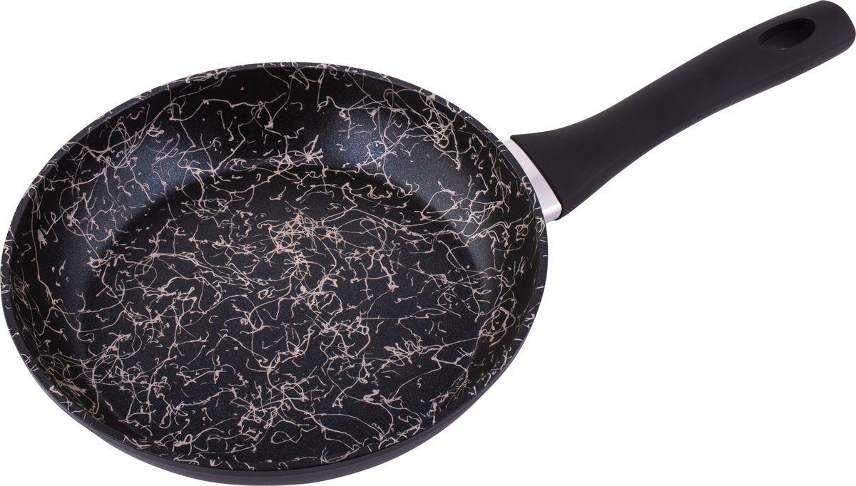 Сковорода Appetite Black Art, с антипригарным покрытием, диаметр 28 см