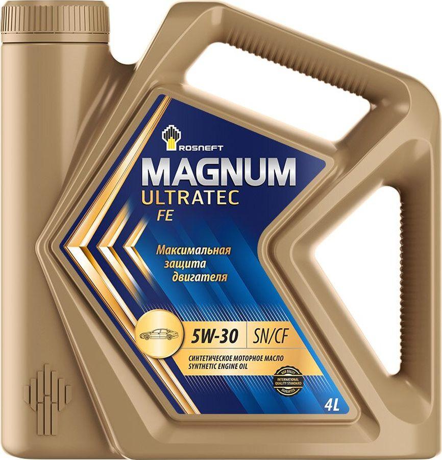 Моторное масло Роснефть Magnum Ultratec FE, синтетическое, 5W-30, 4 л моторное масло роснефть 4 л 40814942