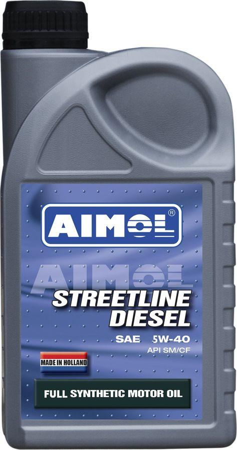 Моторное масло Aimol Streetline Diesel, синтетическое, 5W-40, 1 л