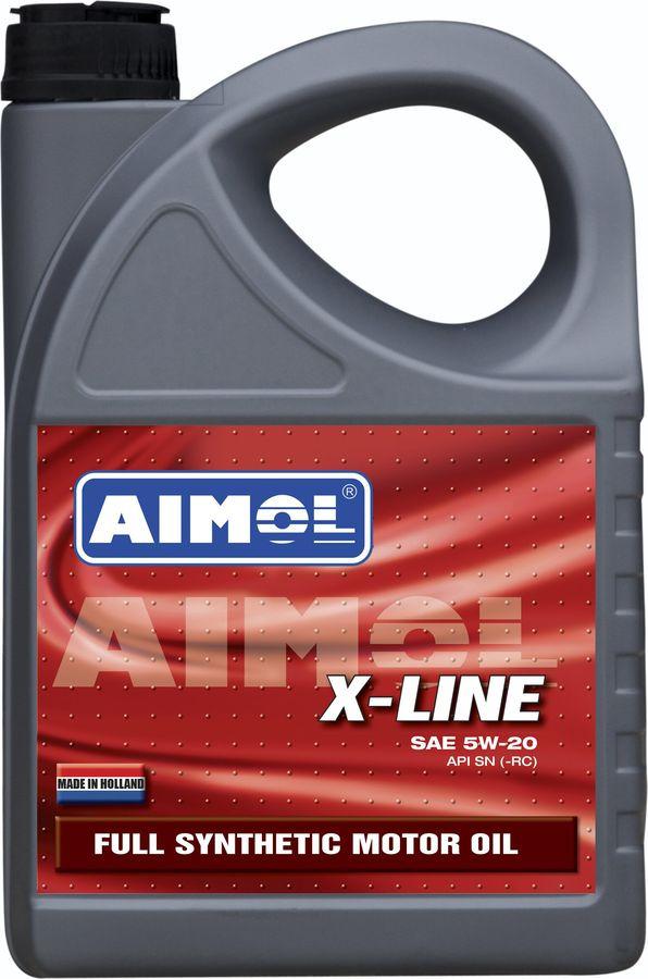 Моторное масло Aimol X-Line, синтетическое, 5W-20, 4 л