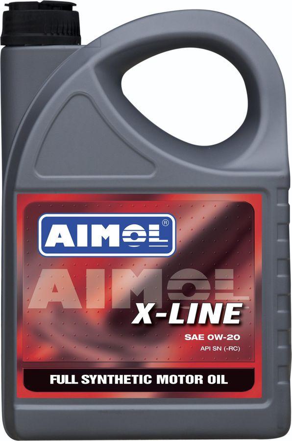 Моторное масло Aimol X-Line, синтетическое, 0W-20, 4 л