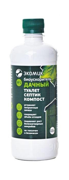 Средство для туалетов, септиков и выгребных ям биопрепарат ЭКОМИК Дачный, 500мл