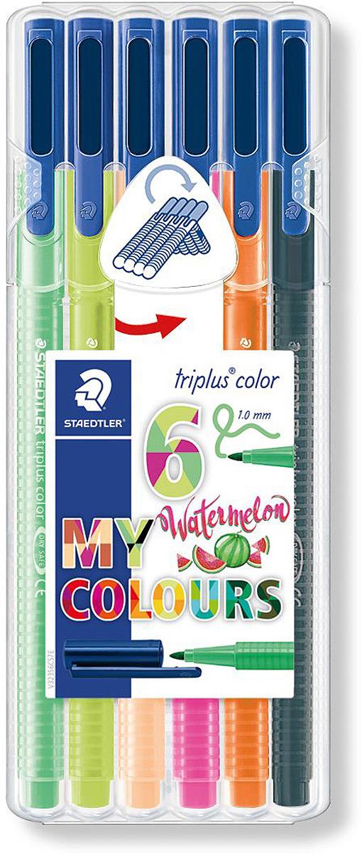 Набор фломастеров Staedtler Triplus Color Арбуз, 323SB6CS7, 6 цветов