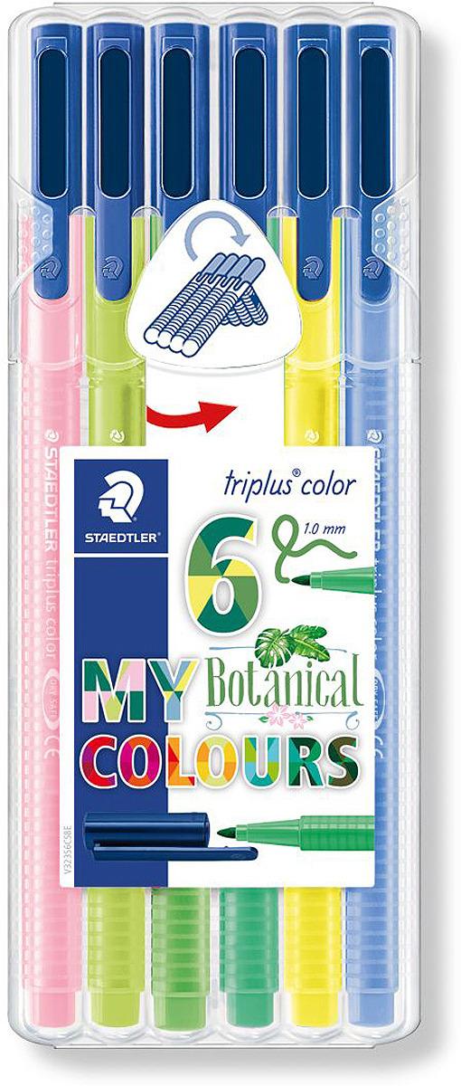 Набор фломастеров Staedtler Triplus Color Ботанический сад, 323SB6CS8, 6 цветов
