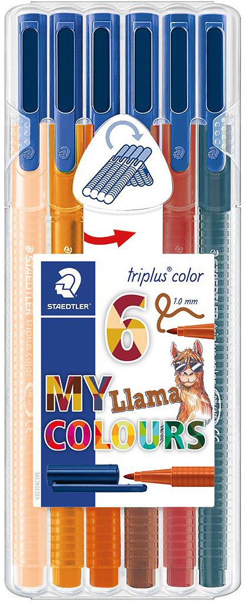 Набор фломастеров Staedtler Triplus Color Ламы, 323SB6CS9, 6 цветов
