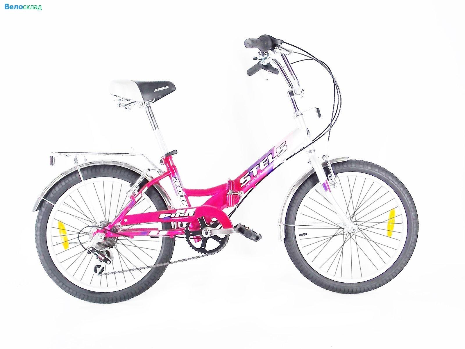 Велосипед Stels Pilot-350, розовый, серебристый