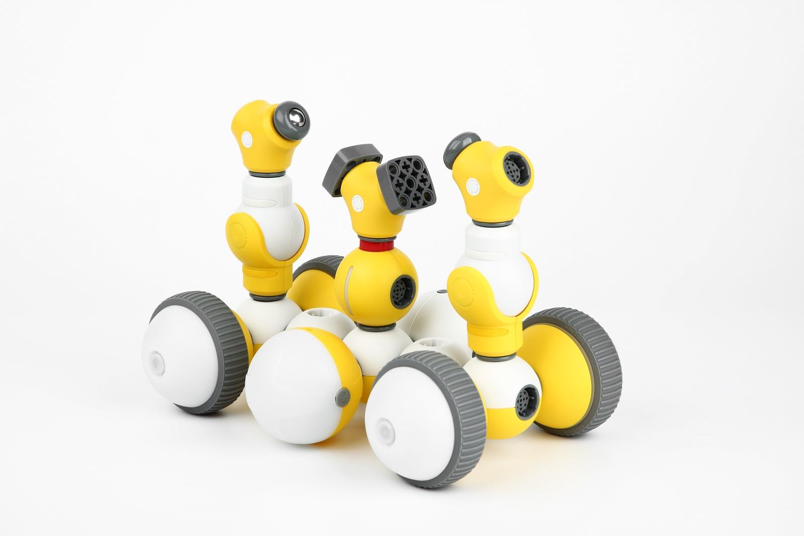 Программируемый робот Bell Robot Детский конструктор-робот Mabot C, желтый, белый Детский конструктор-робот C (Deluxe Kit). Бесконечные возможности...