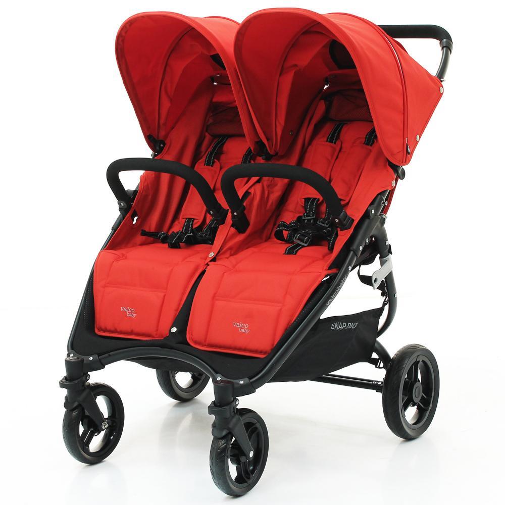 цена Valco Baby Коляска для двойни SNAP DUO Twin/ Fire Red