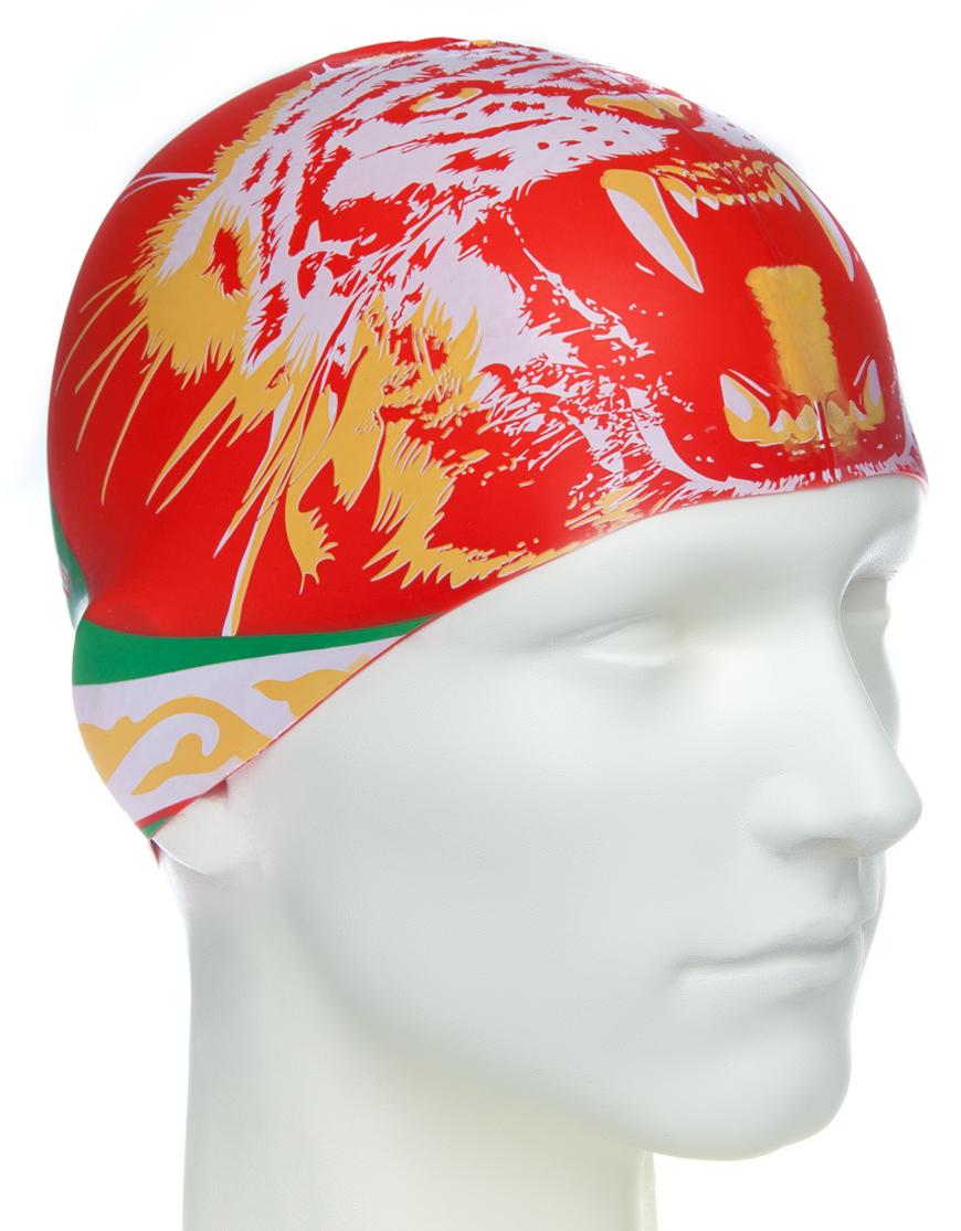 Шапочка для плавания MadWave Tatarstan, M0553 06 0 00W, оранжевый, красный шапочка для плавания mad wave reverse champion цвет розовый фиолетовый