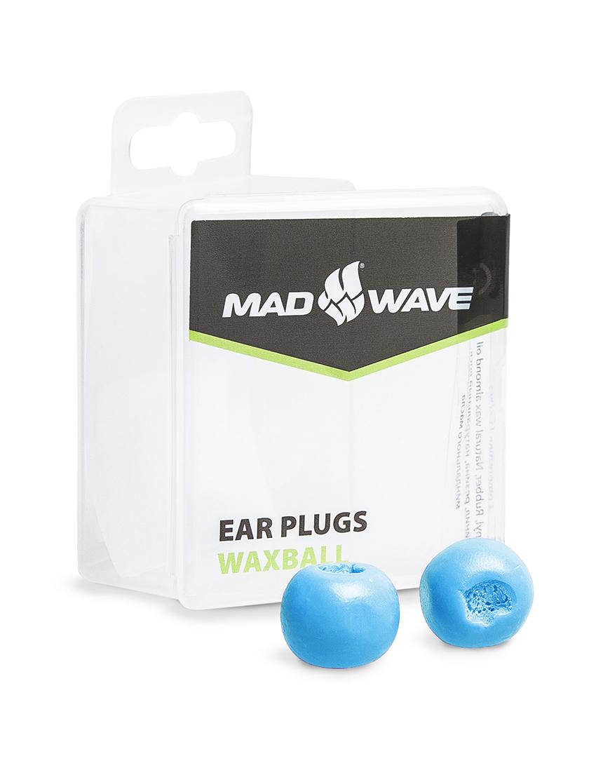 Беруши для плавания MadWave Waxball, M0717 01 0 08W, голубой