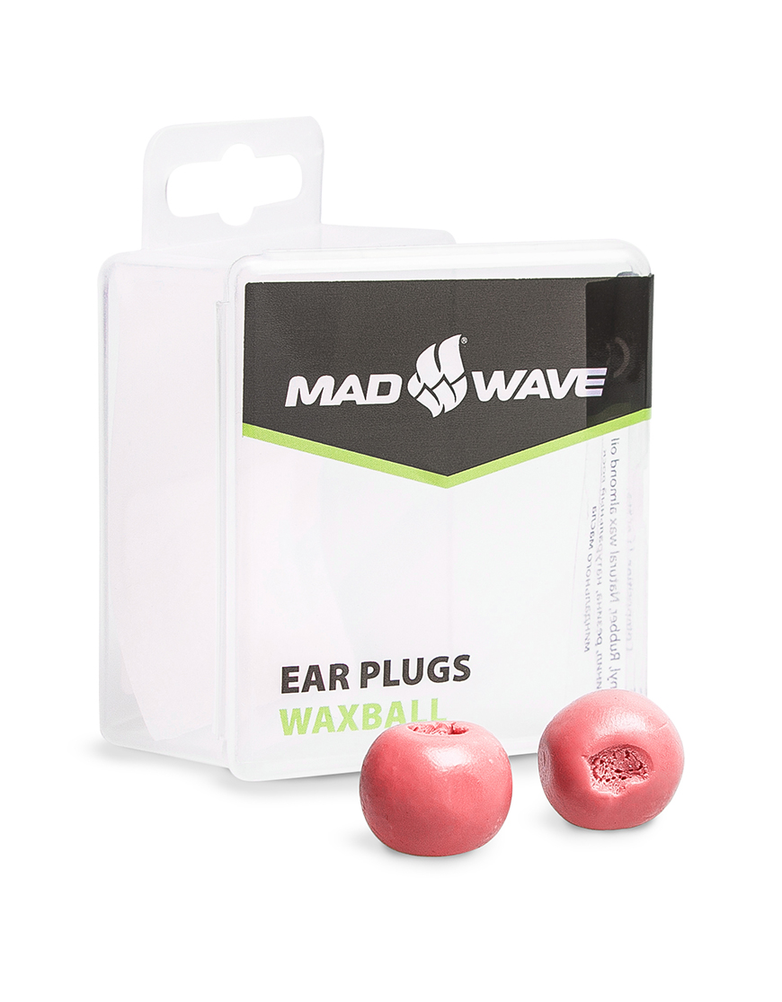 Беруши для плавания MadWave Waxball, M0717 01 0 05W, красный