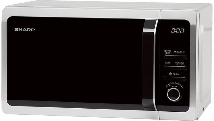 Микроволновая печь Sharp R-6852RSL, серебристый, черный, 20 л