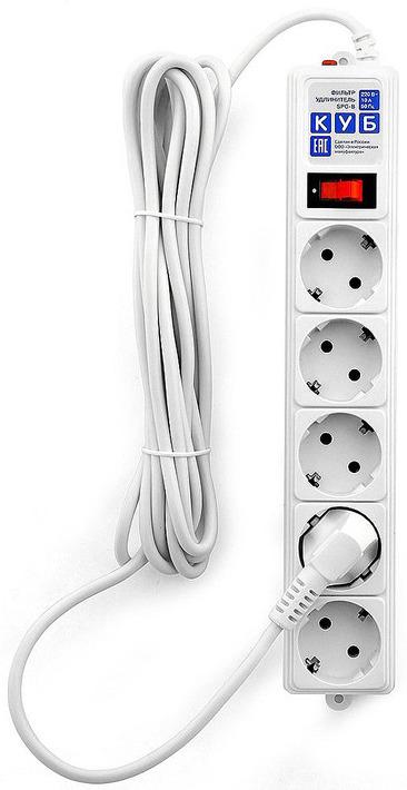 Сетевой фильтр Powercube SPG-B-15-WHITE 5 розеток, 5 м, 607262, белый сетевой фильтр exegate sp 5 1 8g 5 розеток 1 8 м ex221173rus