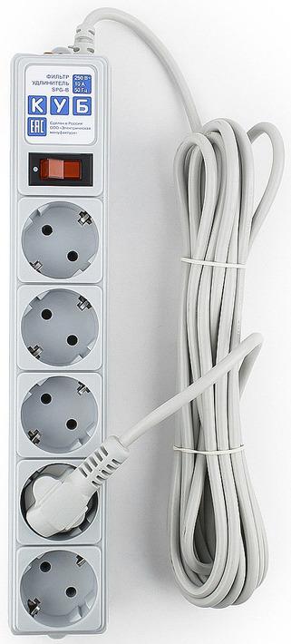 Сетевой фильтр Powercube SPG-B-15 5 розеток, 5 м, 531120, серый цены