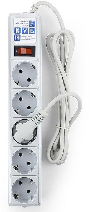 Сетевой фильтр Powercube SPG-B-6 5 розеток, 1.9 м, серый сетевой фильтр exegate sp 5 1 8g 5 розеток 1 8 м ex221173rus
