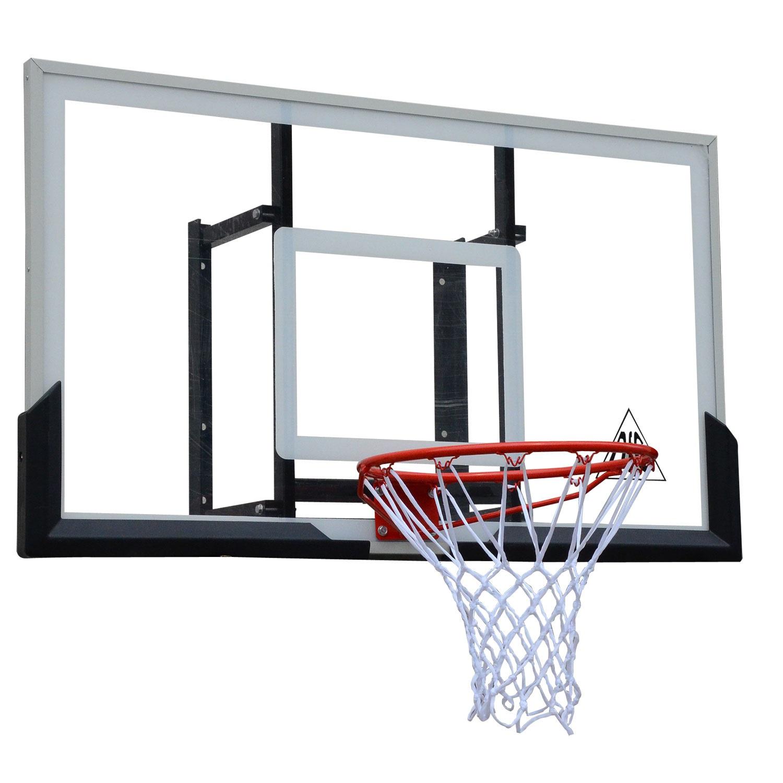 Баскетбольный щит DFC BOARD54A, черный, белый, оранжевый баск щит dfc board32 80x58cm полиэтилен прозрачный