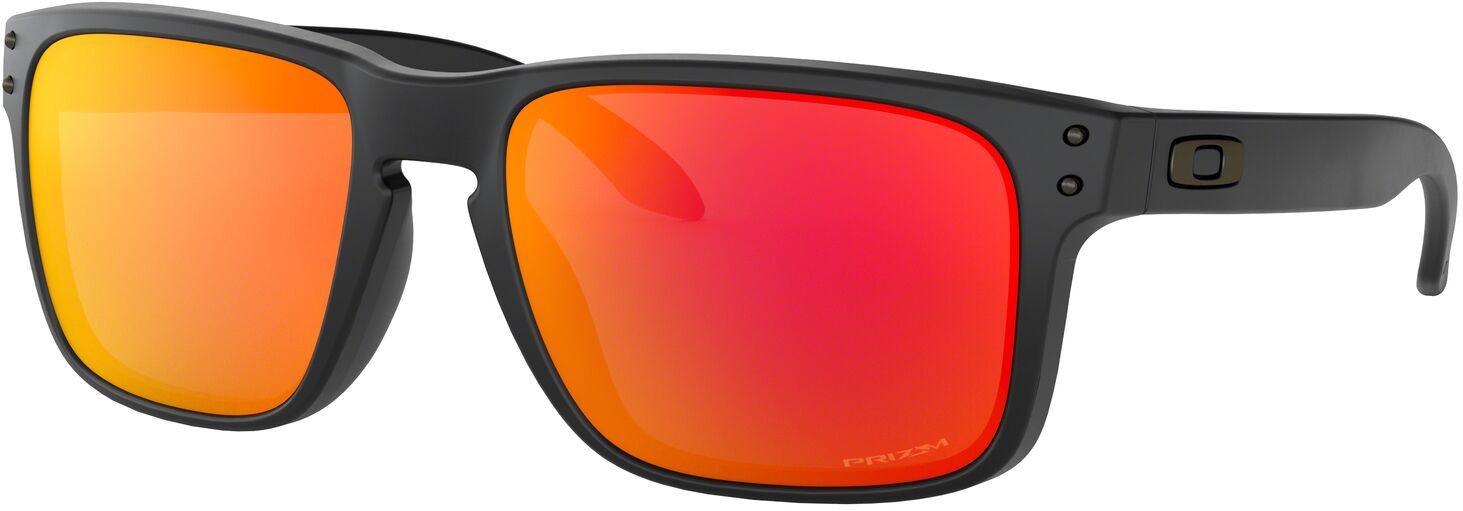 лучшая цена Велосипедные очки Oakley Holbrook, 0OO9102-9102E2, оранжевый, красный, желтый
