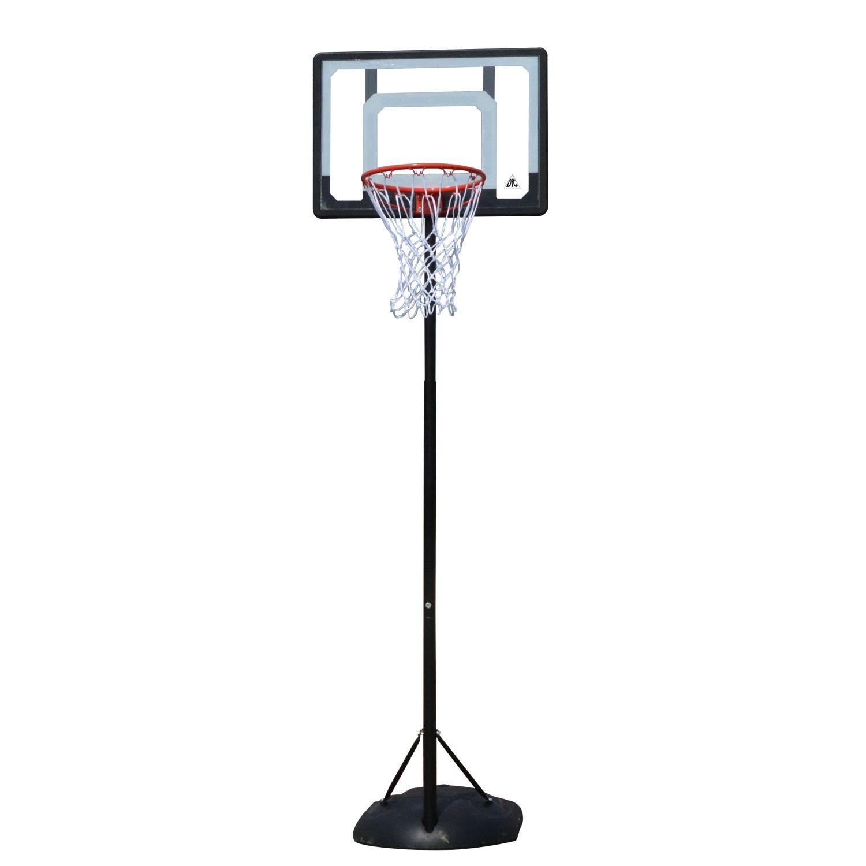 Баскетбольный щит DFC KIDS4, черный, серый, оранжевый баскетбольный щит dfc kids4 черный