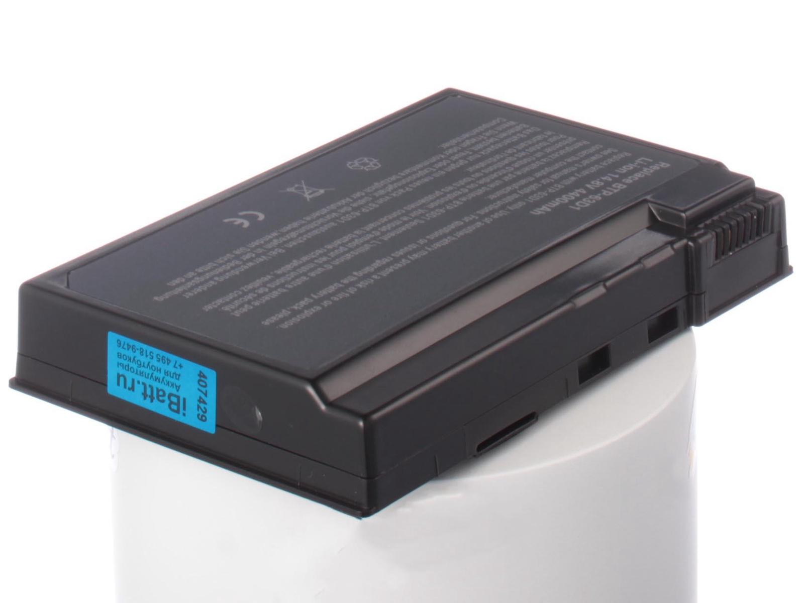 Аккумулятор для ноутбука iBatt для Acer Aspire 3610, TravelMate 2410, Aspire 5020, Aspire 3613LC, Aspire 5042, TravelMate 2413WLC, Aspire 5022WLMi, Aspire 3020, Aspire 5024WLMi, Aspire 3613, Aspire 5025, Aspire 5022 аккумулятор topon top ac58 14 8v 4400mah для acer aspire 1520 3010l extensa 2001lm travelmate 2500 аналог pn btp01 003 btp 84a1 btp 58a1