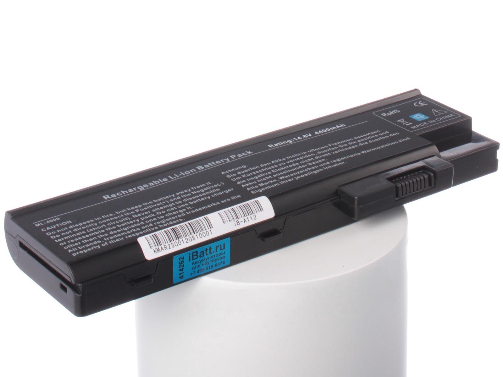 Аккумулятор для ноутбука iBatt для Acer Extensa 2300, Aspire 1694WLMi, Aspire 3505, Aspire 5005, TravelMate 2313WLC, Aspire 3510, Aspire 5002WLMi, Aspire 3003, TravelMate 4001LMi, Aspire 1682, Aspire 1691, Aspire 1696WLMi