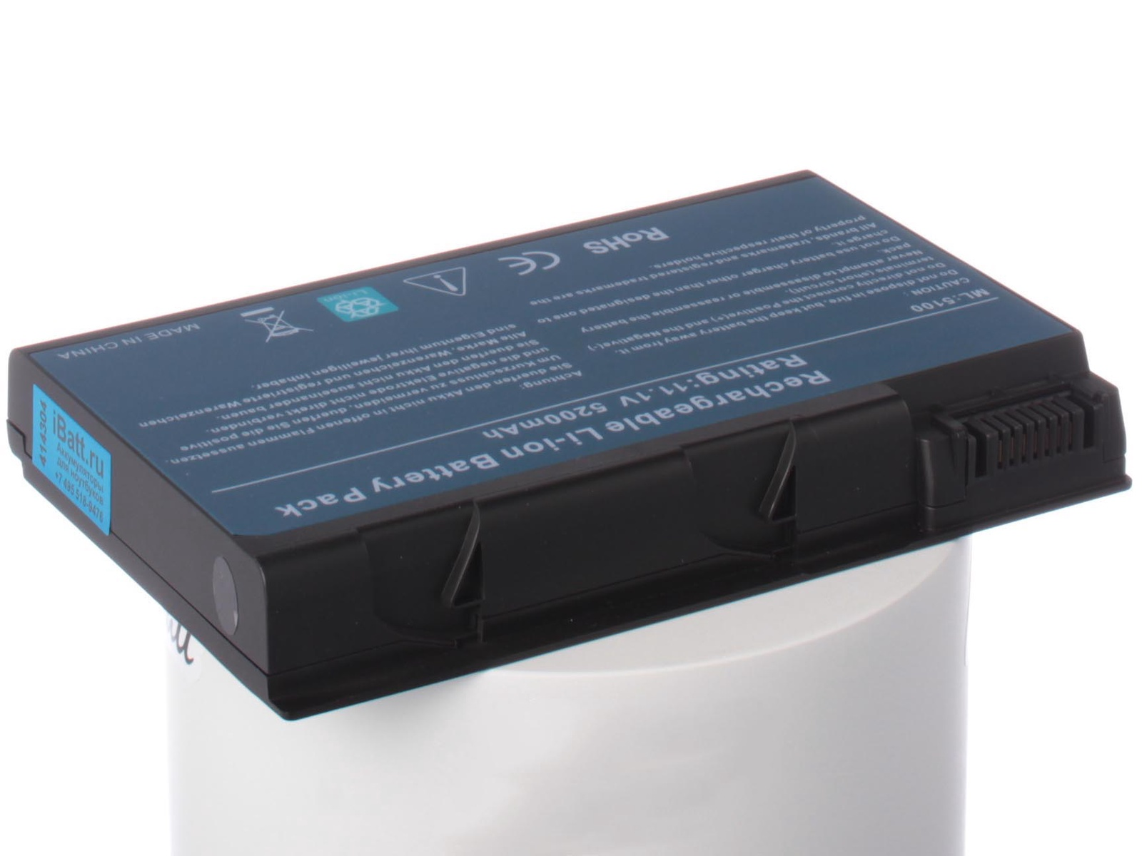 Аккумулятор для ноутбука iBatt для Acer Aspire 5632WLMi, TravelMate 2492, TravelMate 2493, Aspire 5633, TravelMate 2451WLMi, Aspire 5113, Aspire 9805WKHi, TravelMate 4233, Aspire 3651WLMi, Aspire 5612ZWLMi, TravelMate 2451 acer aspire switch 10