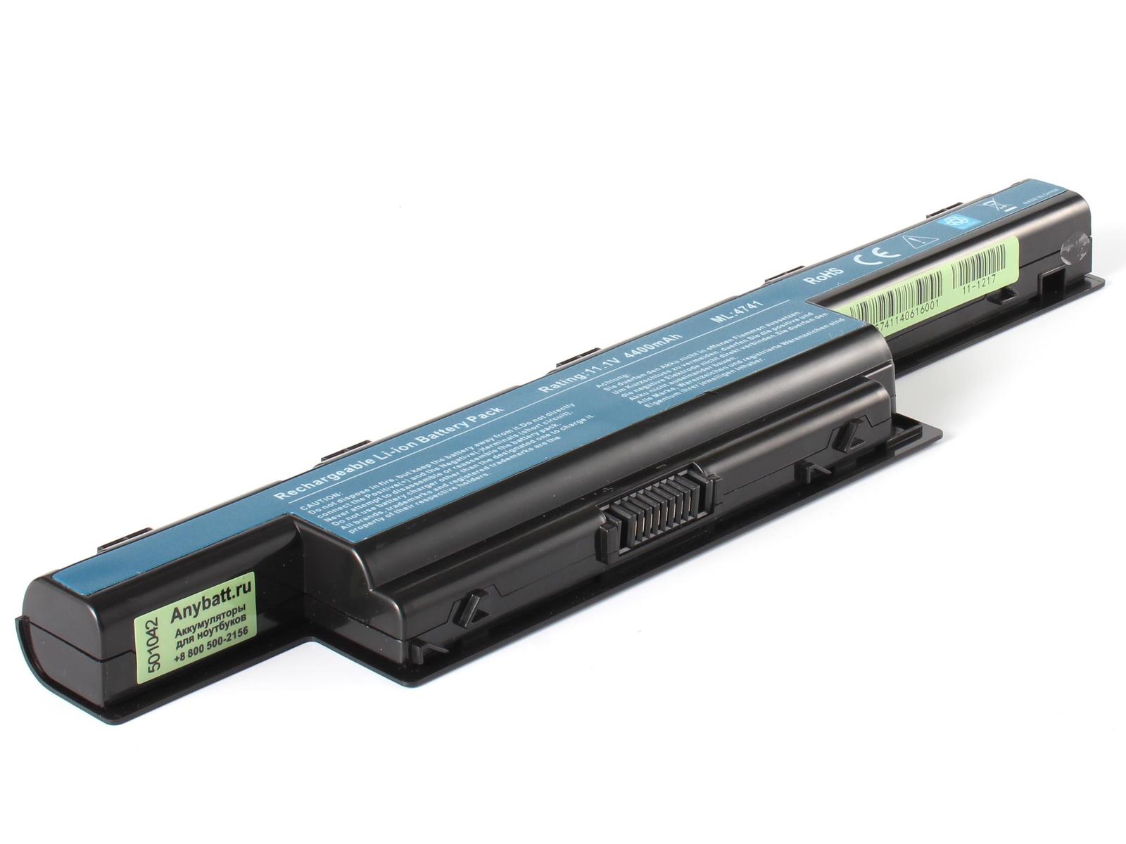 Фото - Аккумулятор для ноутбука AnyBatt для Acer Aspire E1-571G-32374G50Mnks, eMachines E732G-333G25Mikk, Travelmate 4750, Travelmate P643-M, Aspire 5250-E302G50Mnkk, Aspire 5750G-2454G50Mnbb, Aspire 7551G-N974G64Bikk аккумуляторная батарея topon top ac5551 4400мач для ноутбуков acer aspire 4551g 4741 4771g 5253 5333 5551 5741g 5750g 7551g 7741g v3 travelmate 4750 5740g 7750g 8572tg e640 e642g