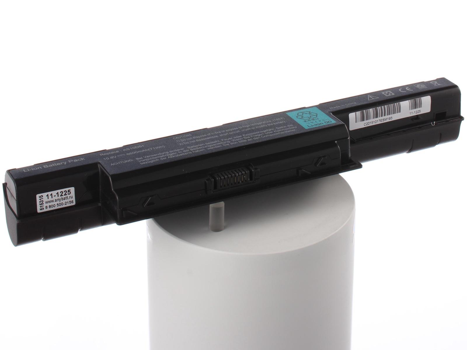 Аккумулятор для ноутбука AnyBatt для Acer eMachines E440, Aspire 7750ZG, TravelMate 5744, TravelMate P253, Aspire E1-532, TravelMate 5760, eMachines G730G, Aspire 5742ZG, Aspire E1-731G, Aspire 7552G, Aspire E1-731, Aspire 5253G аккумулятор для ноутбука anybatt для acer emachines e732 382g32mikk emachines e732g 332g25mikk emachines g730zg p622g32miks travelmate 5735 travelmate 5742zg travelmate 8472t travelmate p273 m aspire 4738z