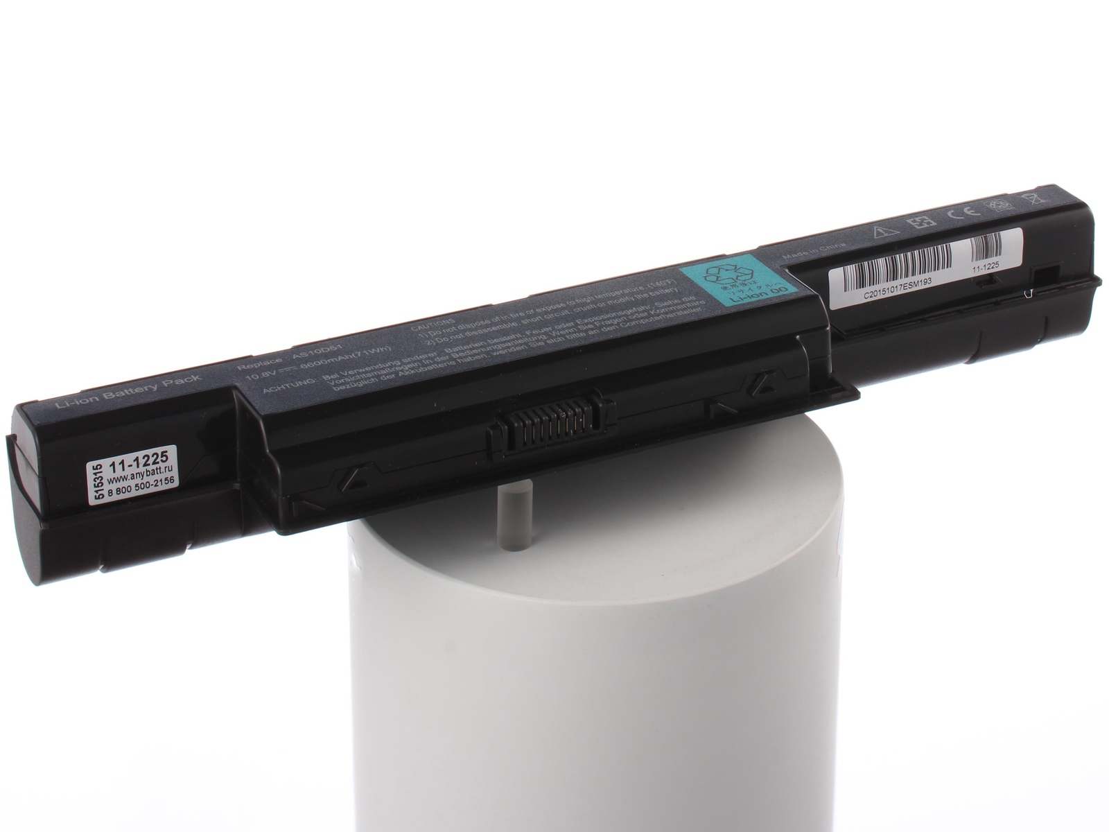 Аккумулятор для ноутбука AnyBatt для Acer Aspire V3-771G-73618G75Makk, eMachines E642G-P543G32Mikk, eMachines E732ZG-P622G32Mikk, eMachines E732ZG-P623G50Mnkk, eMachines G730G-382G32Miks, TravelMate 7750Z, Travelmate P653-M монитор emachines e220hqv