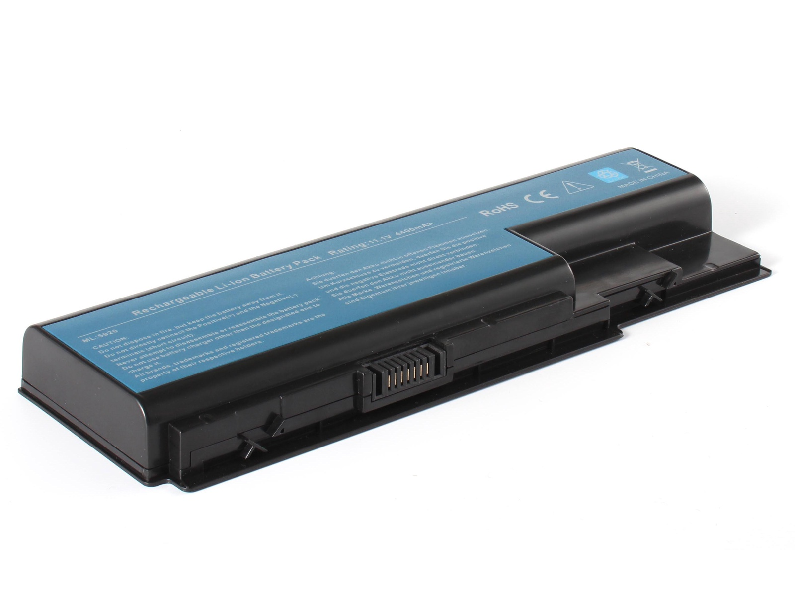 Аккумулятор для ноутбука AnyBatt для Acer Aspire 7220, Aspire 5940G, Aspire 8735G, Aspire 7530, Aspire 7535G, Aspire 7740G, Aspire 5710, Aspire 8935G, Extensa 7230E, Aspire 5730, Aspire 7738, Aspire 8530G-654G32Mi, Extensa 7230 acer aspire switch 10