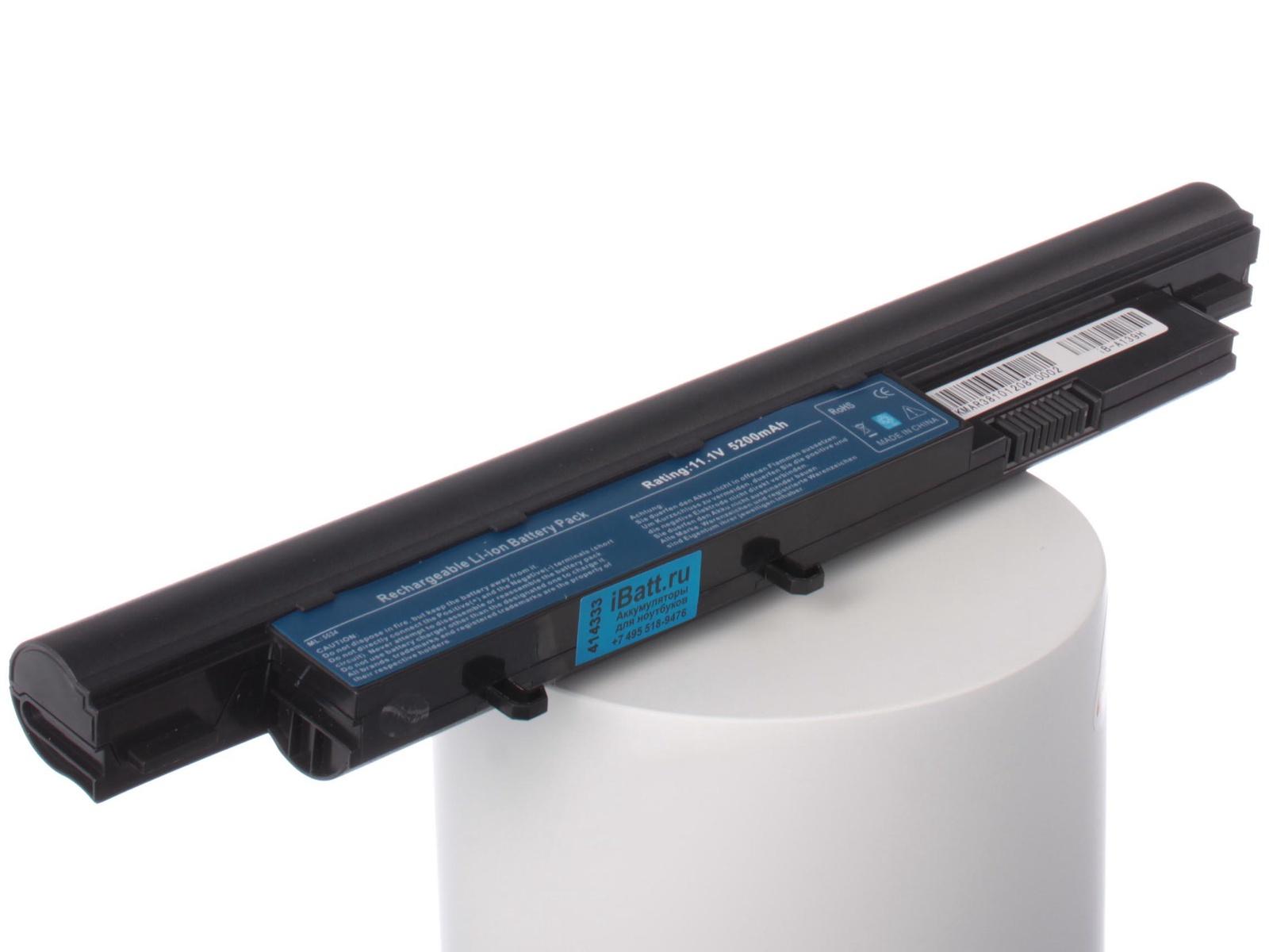 Аккумулятор для ноутбука iBatt Acer, Gateway, Packard Bell, Acer AS09D70, AS09D31, AS09D56, AS09D36, AS09D41, AS09D51, AS09D75 pitatel ad 087 блок питания для ноутбуков acer benq dell emachines fujitsu siemens gateway packard bell 19v 4 74a