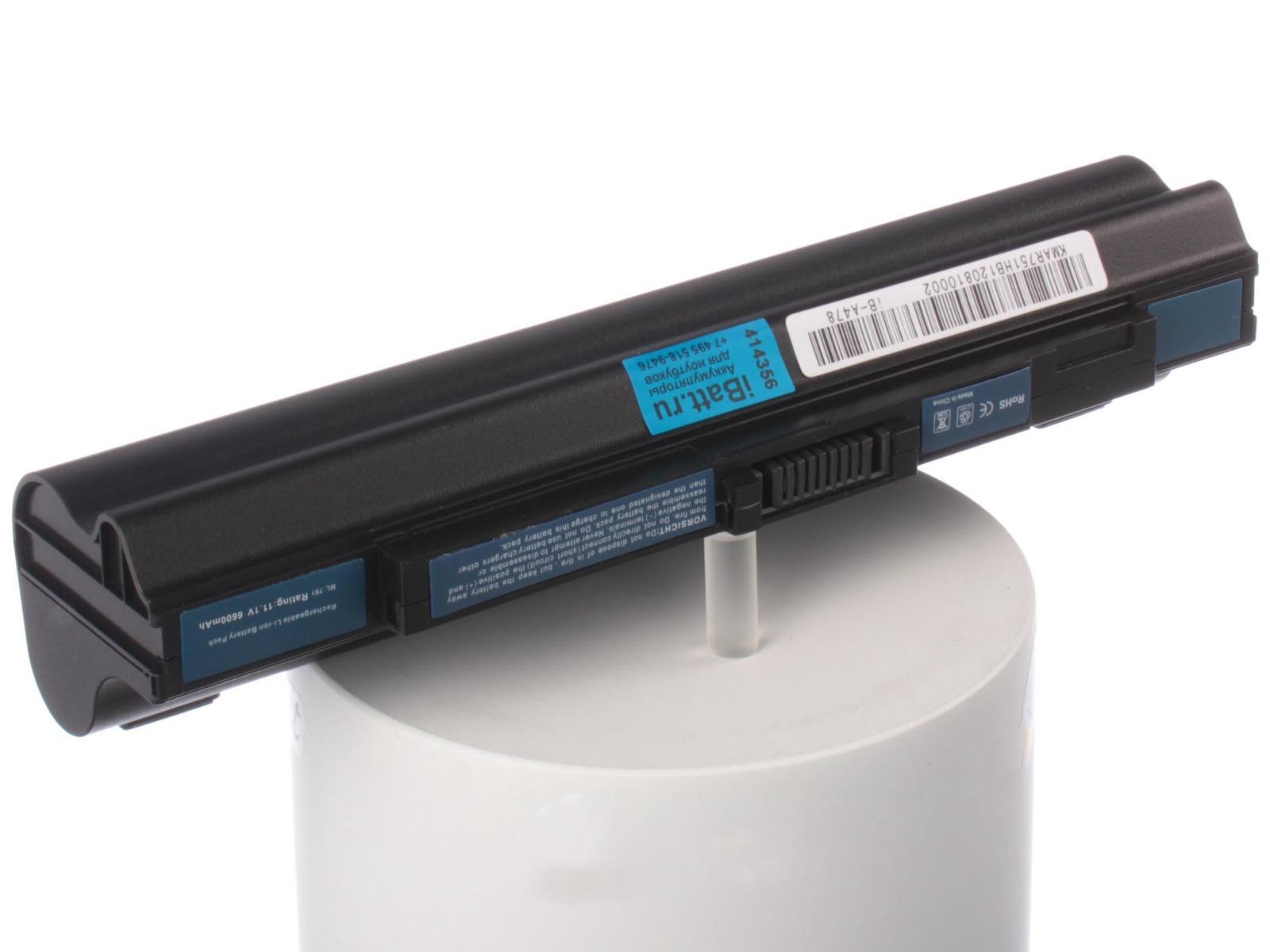 Аккумулятор для ноутбука iBatt для Acer Aspire One ZG8, Aspire One ZA3, Aspire One 751h, Aspire One 751, Aspire One 531h, Aspire One Pro AOP531h, для Gateway LT3113, для Acer Aspire One AO531h, Aspire One AO531h-0Bk