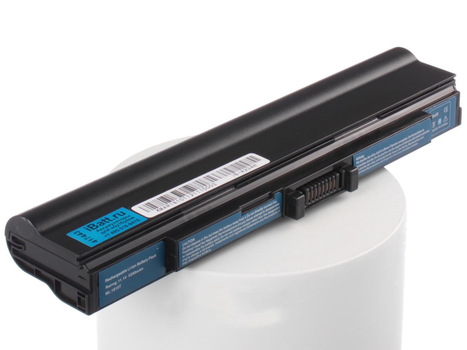 Аккумулятор для ноутбука iBatt Acer, Gateway, Packard Bell UM09E31, UM09E51, UM09E71, UM09E36, UM09E32, UM09E70 универсальный внешний аккумулятор topon top t72 w 18000mah 66 6wh с 2 usb портами и qc 2 0 для зарядки ноутбука белый