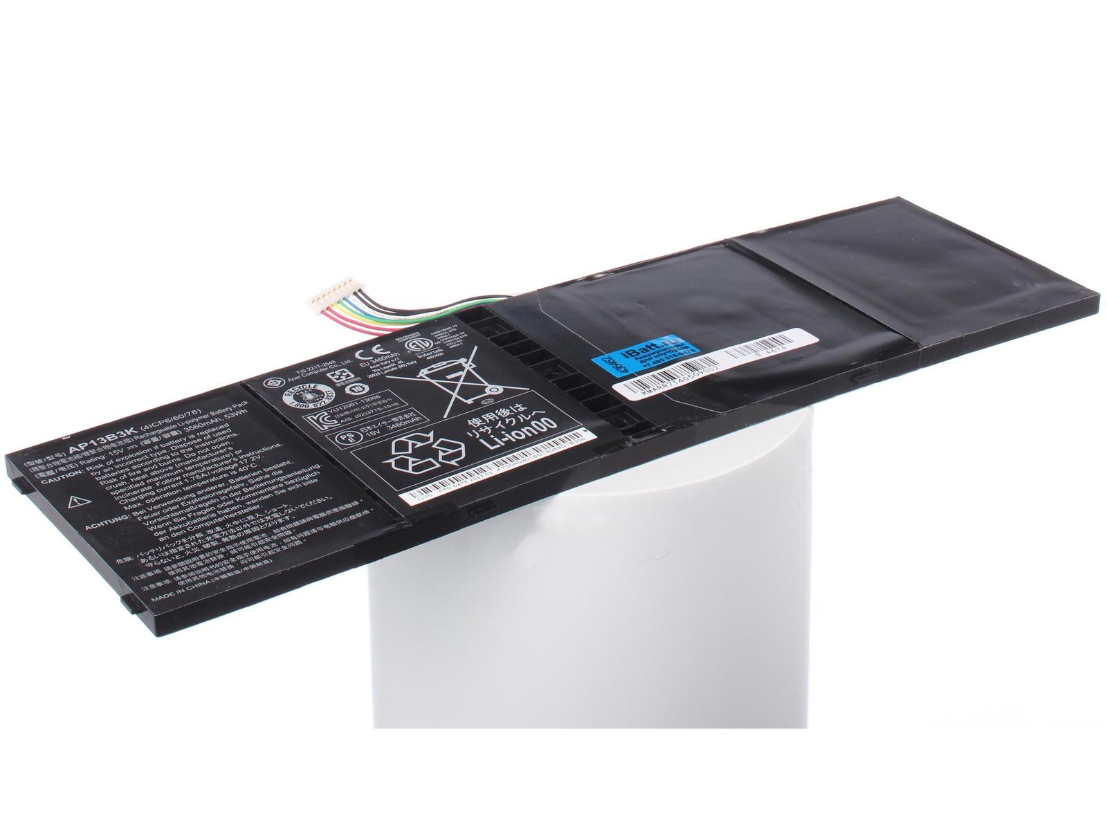 Аккумулятор для ноутбука iBatt для Acer Aspire V5-572PG-53338G50amm, Aspire M5-583P, Aspire R7-571G-73538G1Tass, Aspire R7-572-54206G1Tass, Aspire V7-482PG-74508G52t, Aspire V7-582P, Aspire ES1-511-C09C, Aspire R7-572G-74508G1Ta ноутбук acer aspire es1 572 31vt nx gkqer 006