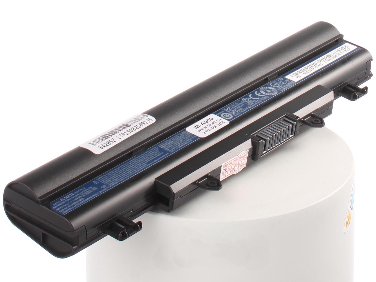 Аккумулятор для ноутбука iBatt для Acer Aspire E5-571G-56AH, Extensa 2509-C82B, Travelmate P256-MG-56NH, Aspire E5-511-C565, Aspire E5-511-P9D8, Aspire E5-521-8175, Aspire E5-521G-4209, Aspire E5-571G-34J9, Aspire E5-571G-55U1 acer aspire e5 573 331j