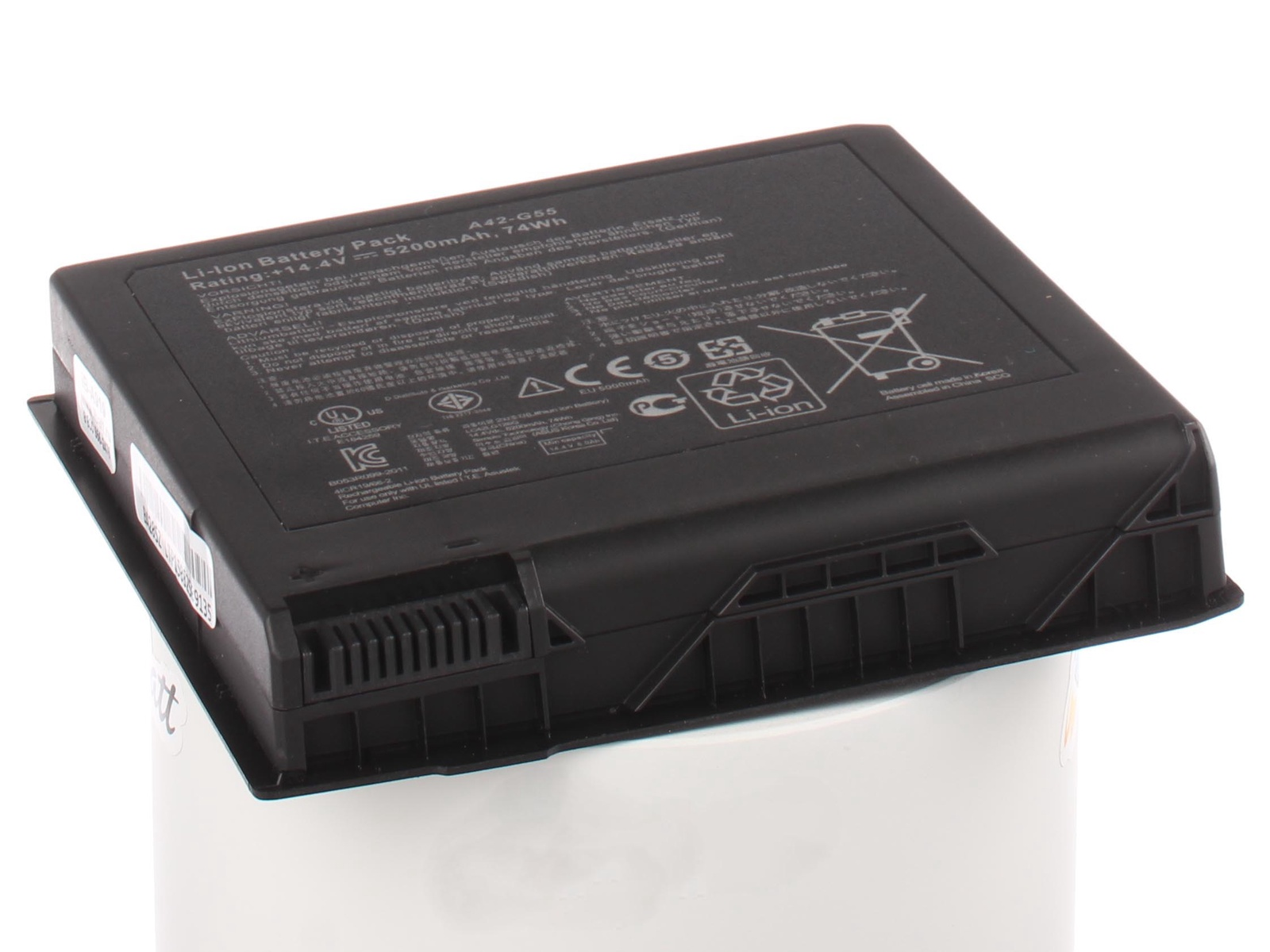 Аккумулятор для ноутбука iBatt для Asus N751JK, N551JM, G771JW, N551J, N751J, G771J, N551VW, N751JX, ROG G771JW, N551, N551JB, G551JK, N751, G771, G551JX, G551, G551JM, N551JK, G551JW, ROG G771J, G771JW-T7140H, ROG G551JX