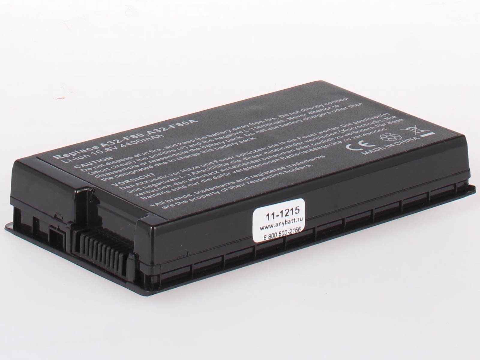 Аккумулятор для ноутбука AnyBatt для Asus X61, X61S, F80L, F80S, N60d, PRO63D, N60DP, F83VF, F50S, F80Cr, X61Z, F80Q, F50SL, N60sf, F80A, F50Q, F50SV, F50Z, X82S, F50G, F81Se, F50Gx, N60W, X61SL, X85C, F50SF, F83SE, X85S, X82CR