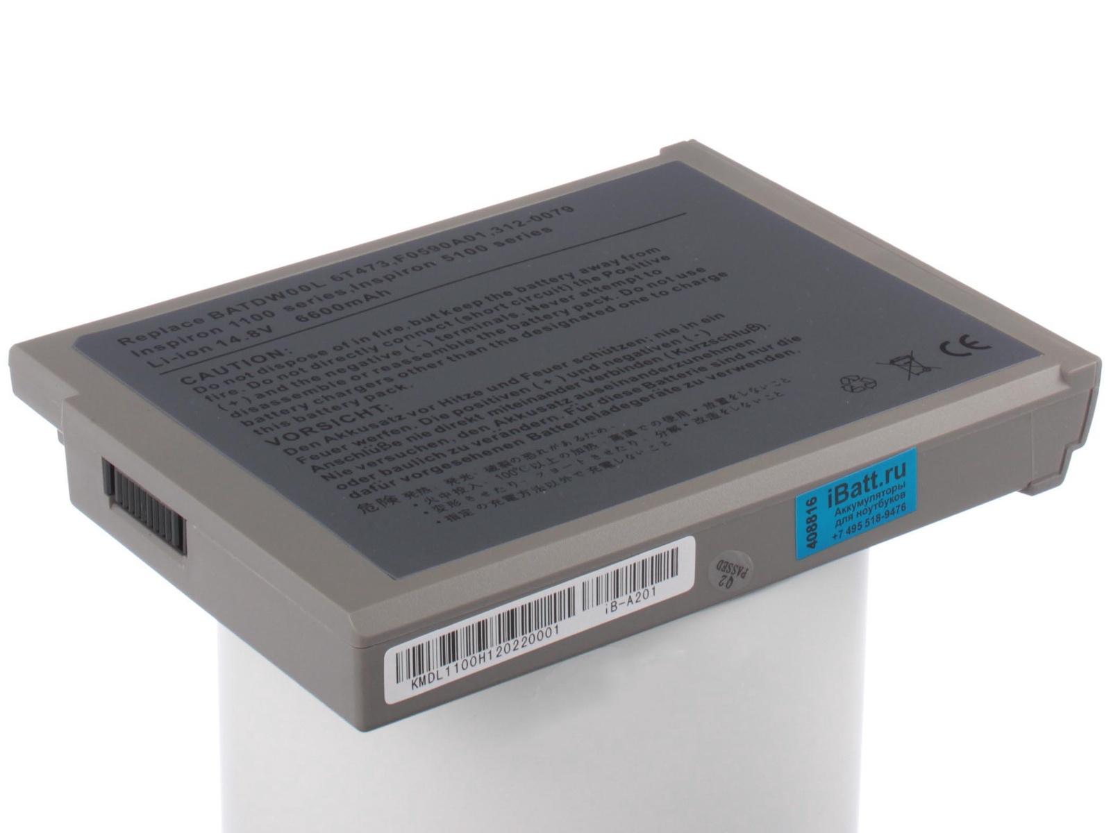 Аккумулятор для ноутбука iBatt для Dell Inspiron 5110, Inspiron 5100, Inspiron 1100, Inspiron 1150, PP01, Latitude 100L, Inspiron 5160, Inspiron 5150, Inspiron 5110-3715, PP08L, Inspiron 5110-7475, Inspiron 5110-8255 pitatel bt 203 аккумулятор для ноутбуков dell inspiron 1100 5100 5150 5160 latitude 100l