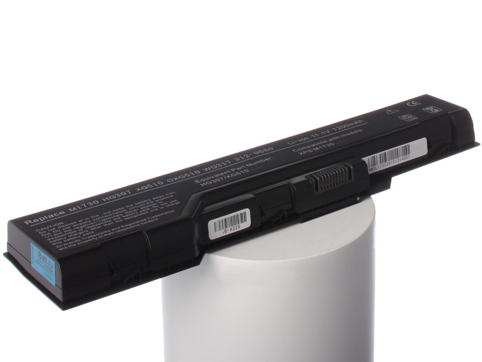 Аккумулятор для ноутбука iBatt Dell HG307, XG510 не заряжается батарея ноутбука