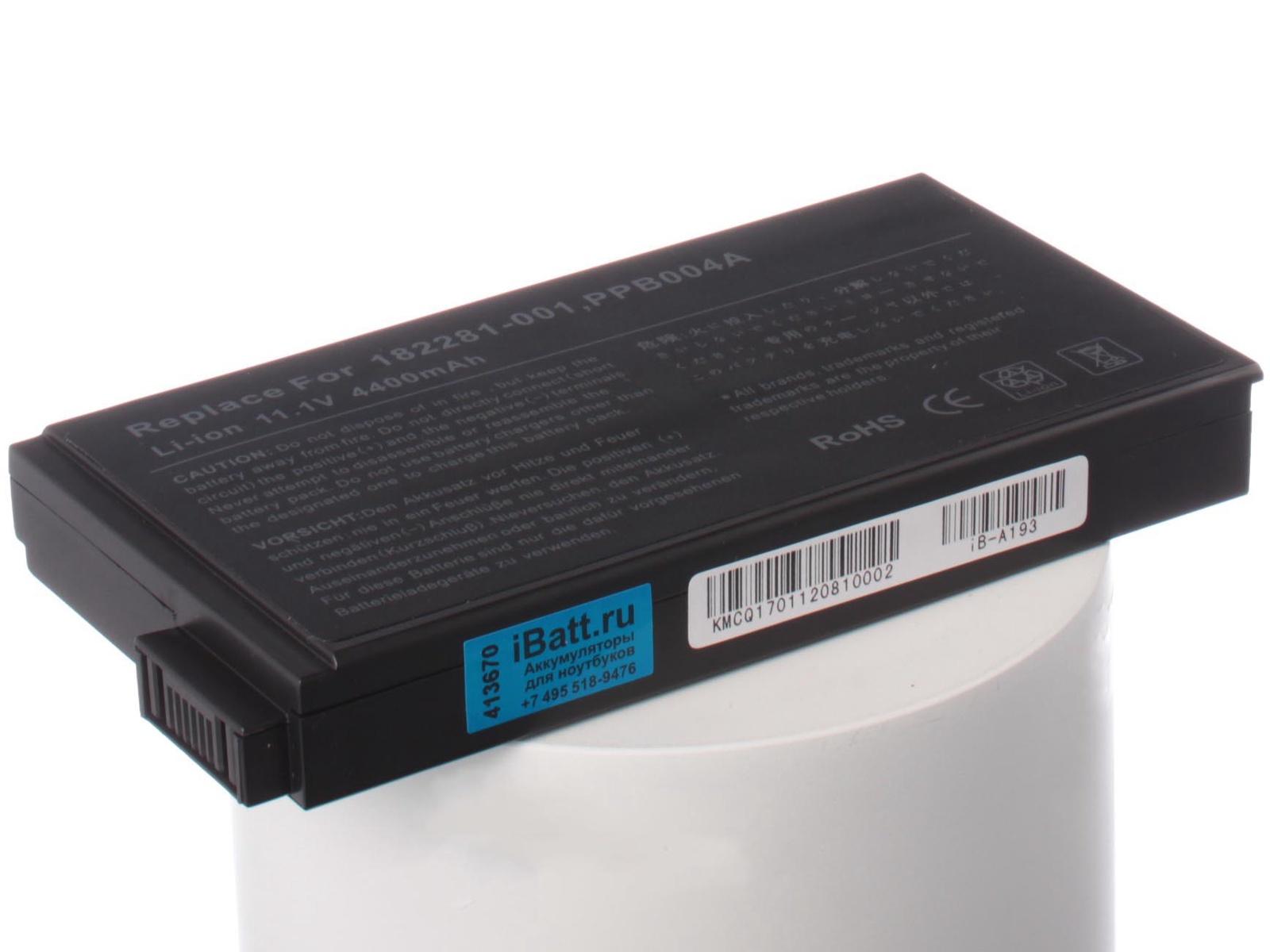 Аккумулятор для ноутбука iBatt для HP-Compaq nc6000, nx5000, nc8000, Evo N800v, Evo N800c, Evo N1020v, Presario 1500, Evo N1000c, nx8000, nw8000, Evo N1015v, Presario 900, Presario 1700, Presario 2800, PP2001, PP2190 mtd sdl 2800 evo