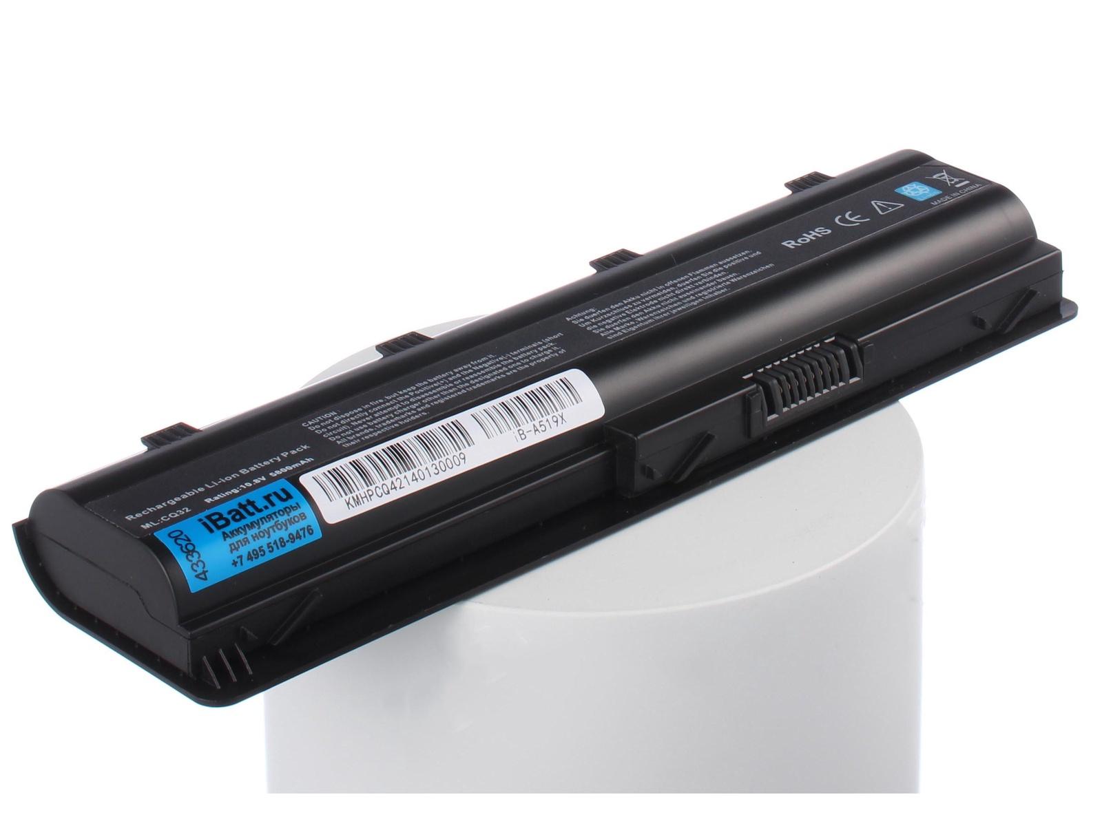 Аккумулятор для ноутбука iBatt для HP-Compaq Pavilion g7-1310er, Pavilion g7-2159sr, Presario CQ58-127SR, 630 A1D72EA, G62-100, Pavilion dv6-3055sr, Pavilion dv6-3075er, Pavilion dv6-3085er, Pavilion dv6-6c34sr