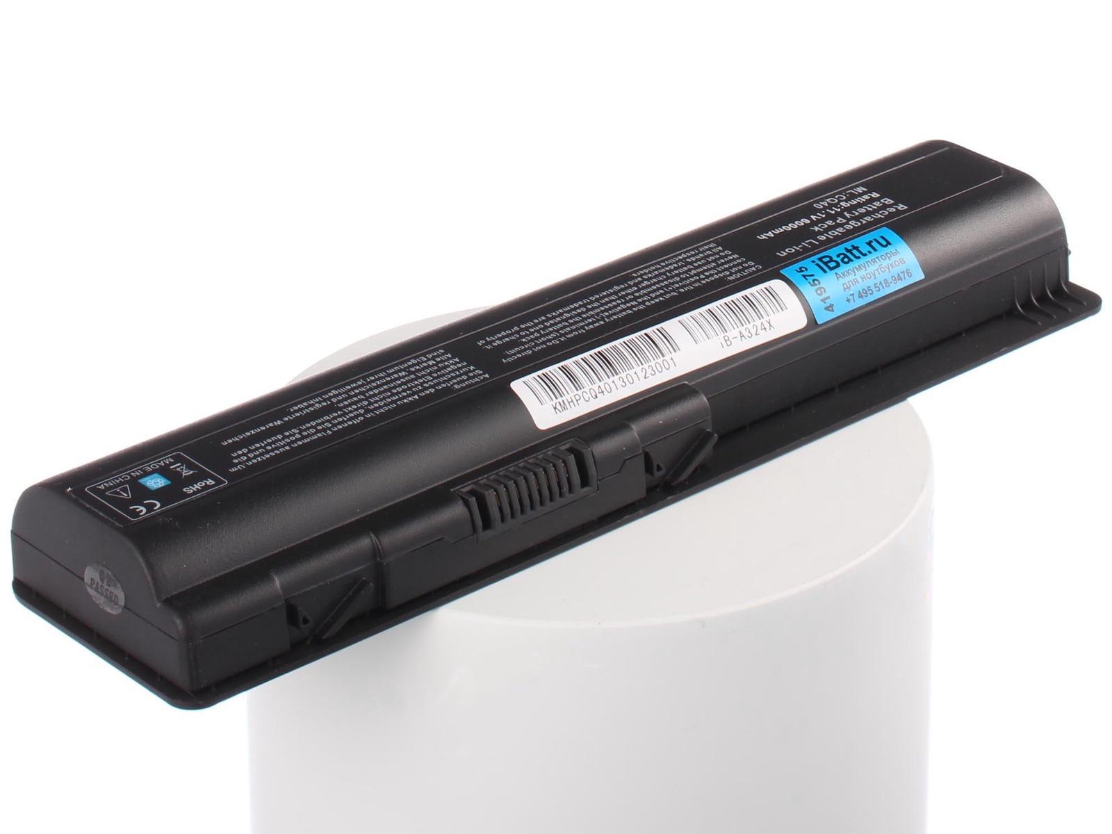 Аккумулятор для ноутбука iBatt для HP-Compaq Pavilion dv6-1225er, Presario CQ61-315ER, Presario CQ61-331ER, Pavilion dv6-1300, Presario CQ71-302ER, Presario CQ71-320ER, Presario CQ45, Pavilion dv5-1125nr, Presario CQ61-205ER iBatt