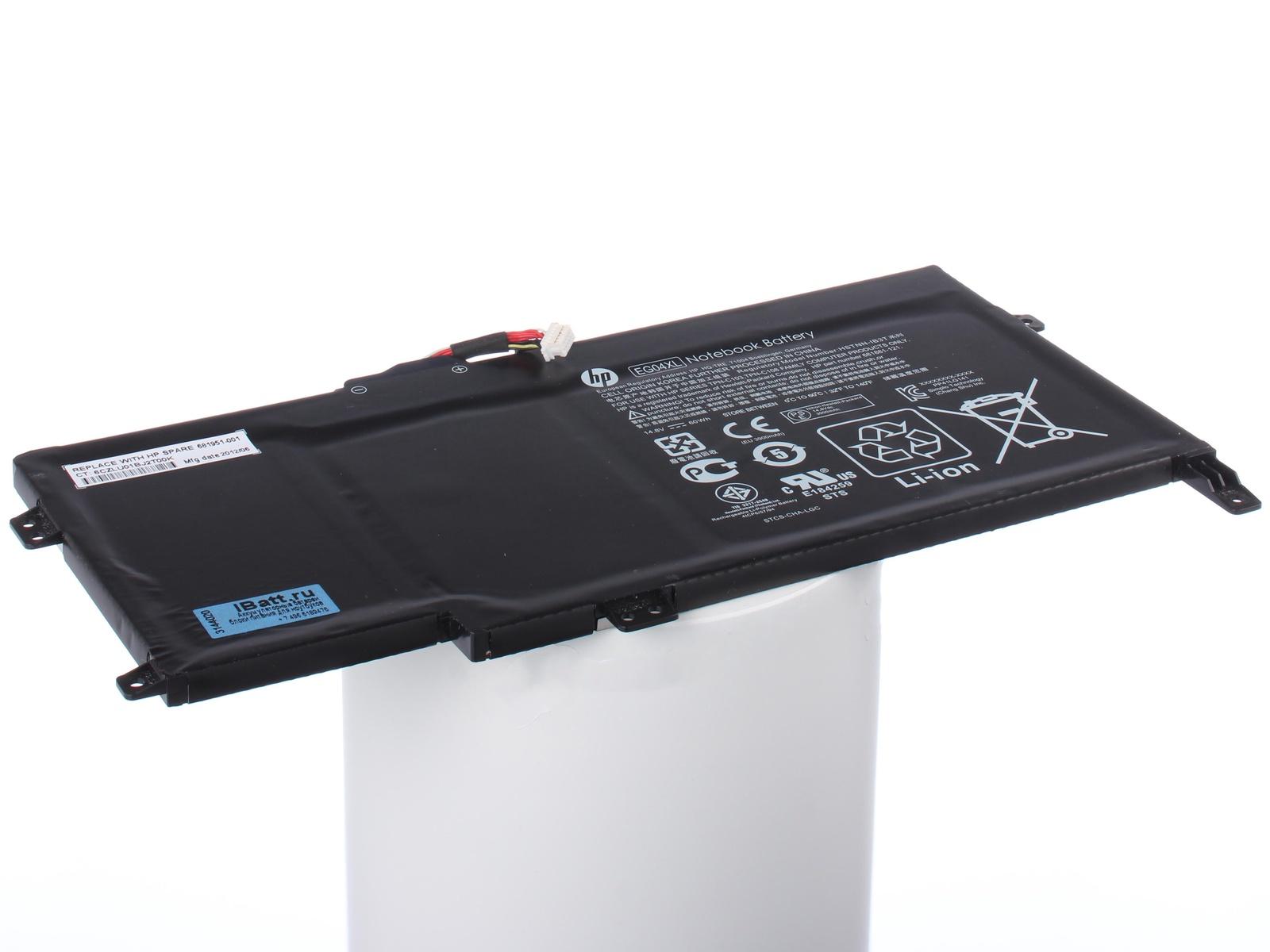 Аккумулятор для ноутбука iBatt HP-Compaq EG04XL, EG04, 681881-171 компьютер compaq