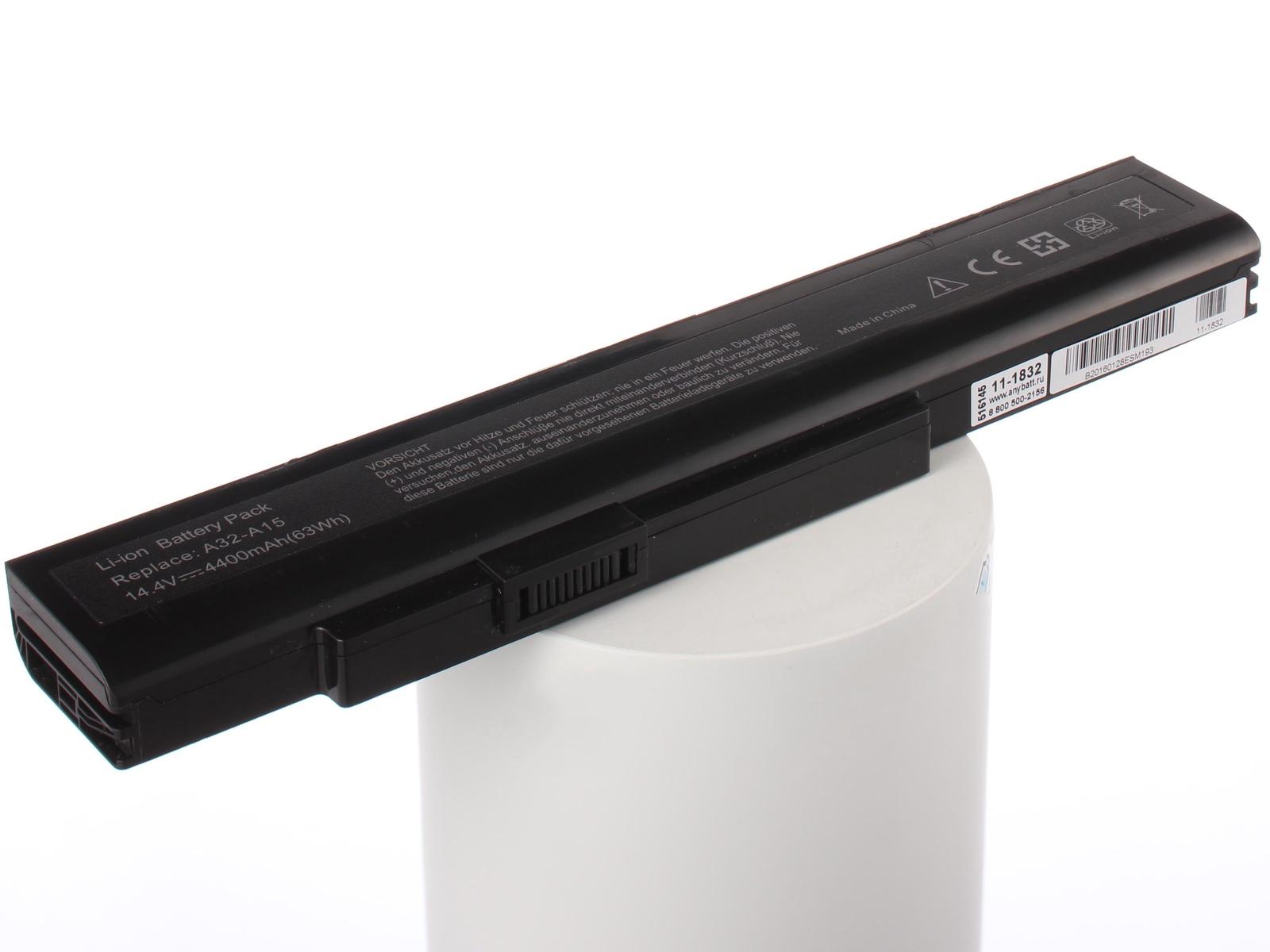 цена на Аккумулятор для ноутбука AnyBatt MSI A32-A15, A42-A15, A41-A15, CS-MD9776NB, A42-H36, iB-A832, 11-1832, FMVNB218, iB-A1420, iB-A1420H, iB-A832H