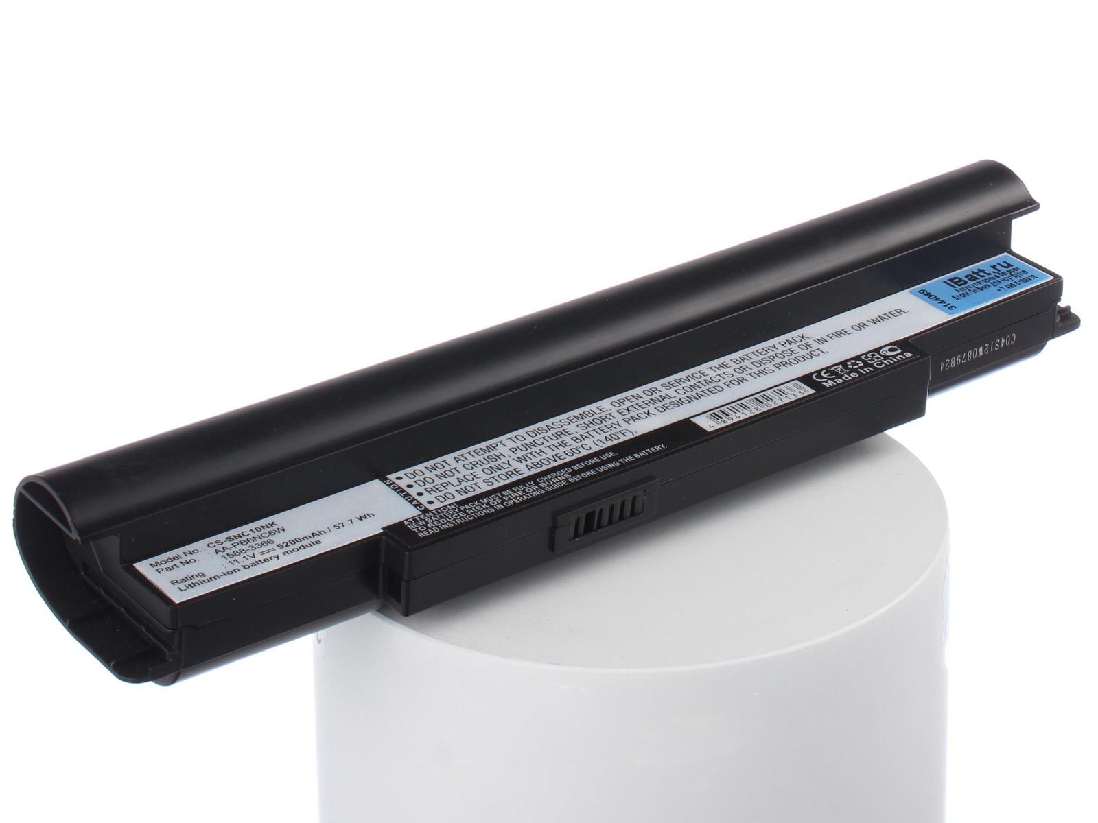 Аккумулятор для ноутбука iBatt Samsung AA-PB8NC6B, AA-PB6NC6W, AA-PL8NC6B, AA-PB8NC6M