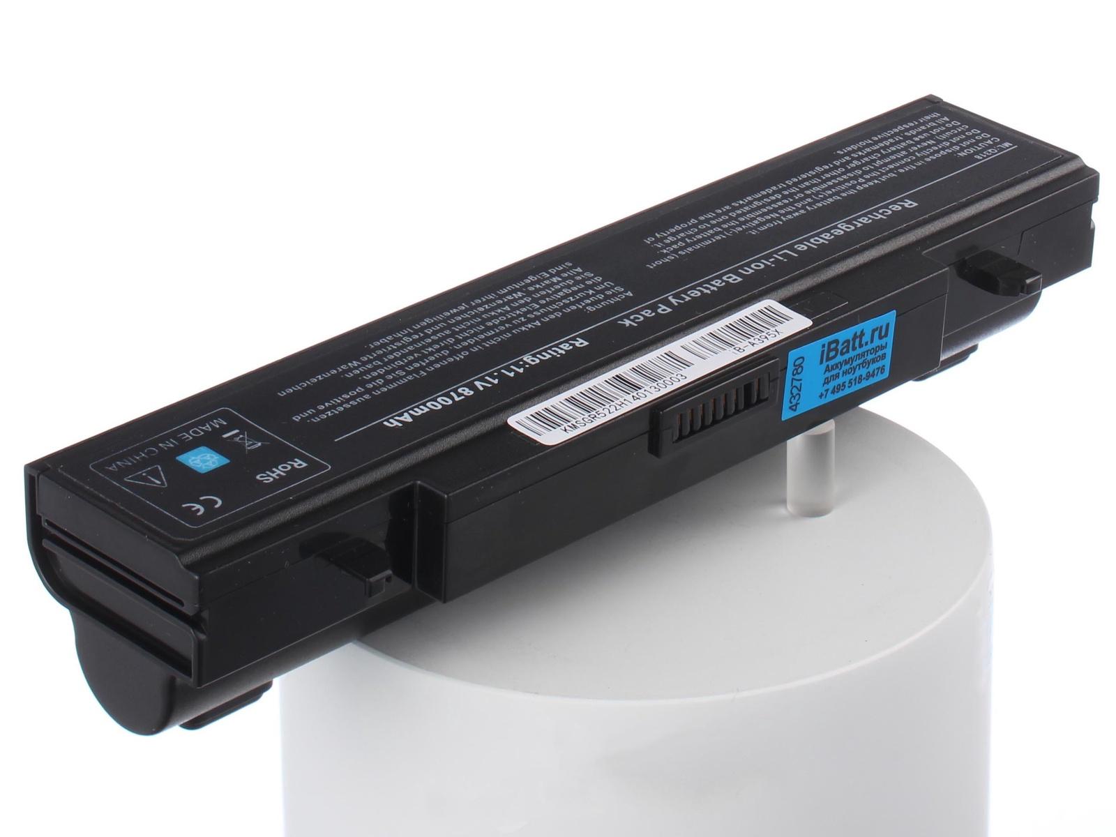 Аккумулятор для ноутбука iBatt для Samsung 300E5A-A03, NP300E5X-U01, RF410, R425-JU03, RC728, RV513-S02, RV511-S08, RV515-S05, 300V5A-S18, 305V5A-S0A, R528-DA04, RV520-A02, 300E5C-U07, R540-JA07, 350V4X, NP350V4C, NP350V5C-A07 аккумулятор для ноутбука anybatt для samsung 305v5a t08 350e7c a02 r528 ds01 300v5a s0u np r620 r525 js02ru r425 jt01 r428 da02 300e5a s09 ativ book 2 270e5e r429 300e5a a04 300e5c a03 355v5c s0n 300e5c u03 350v4c