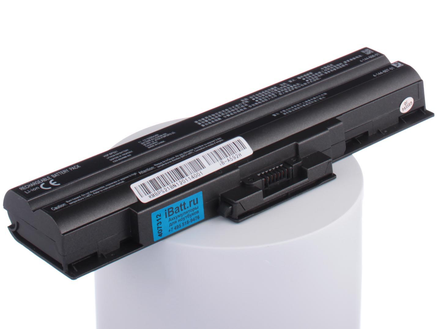 Аккумулятор для ноутбука iBatt для Sony VAIO VPC-S13S9R, VAIO VGN-AW11ZR, VAIO VGN-CS325J, VAIO VGN-FW290, VAIO VGN-NS21ER, VAIO VGN-NW240F, VAIO VPC-F11M1R, VAIO VPC-S12A7R, VAIO VGN-AW3XRY, VAIO VGN-FW11J, VAIO VGN-NS305D аккумулятор для ноутбука sony vaio vgn aw vgn cs vgn fw vpc cw vpc m vpc sr series 8800мач 11 1v topon top bpl21h nocd88