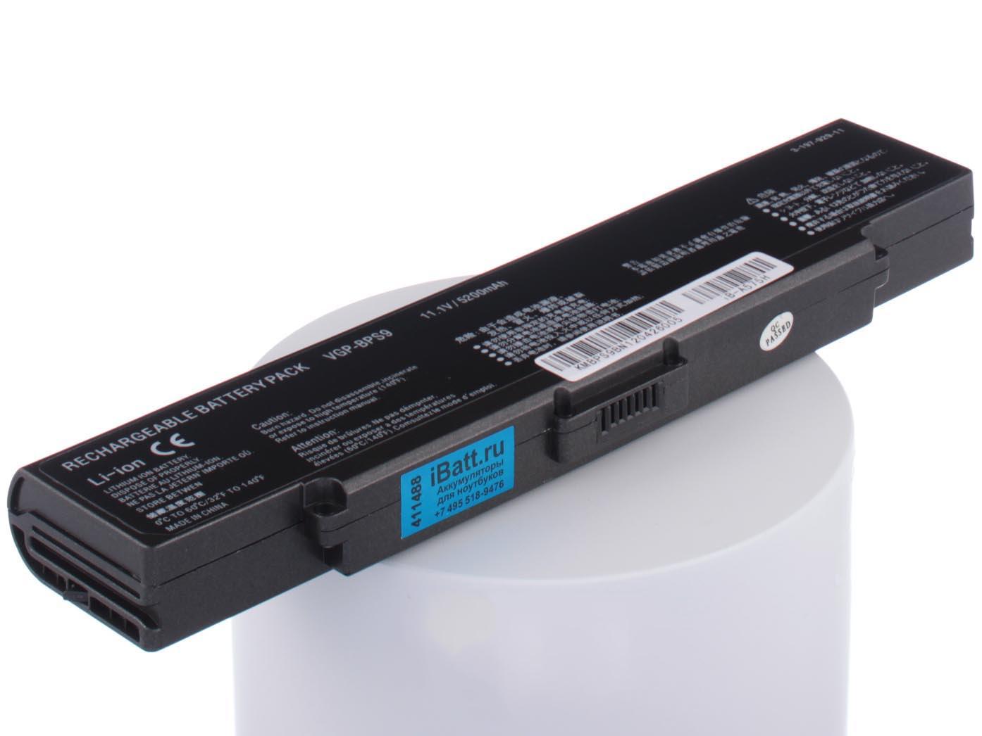 Аккумулятор для ноутбука iBatt Sony VGP-BPS9, VGP-BPS9A, VGP-BPL9 аксессуары для автозвука sony mp3 pcmcia vgp mca10 sd