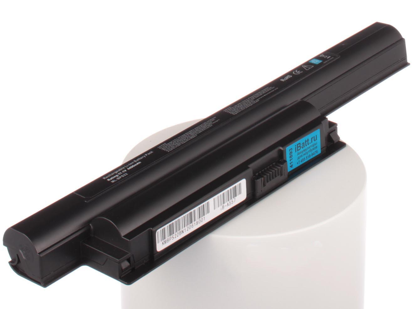 цена Аккумулятор для ноутбука iBatt для Sony VAIO PCG-79EP, VAIO VPC-EB1Z1R, VAIO VPC-EB2S1R, VAIO VPC-EB2Z1R, VAIO VPC-EF3E1R, VAIO VPC-EA2M1R, VAIO VPC-EB11GX, VAIO VPC-EB1S0E, VAIO VPC-EB2E1R, VAIO VPC-EB2E9R, VAIO VPC-EB3A4R