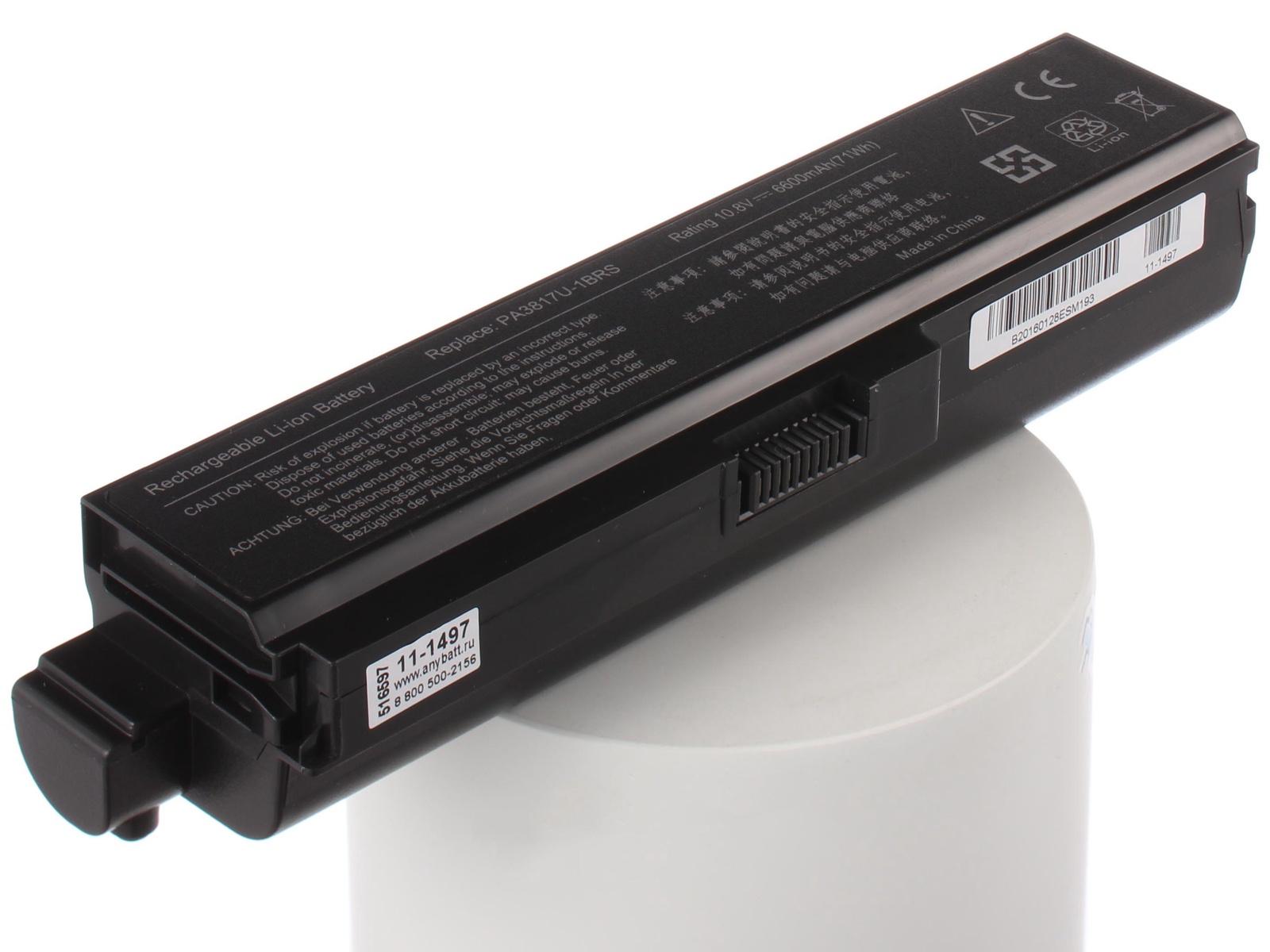 Аккумулятор для ноутбука AnyBatt ToshiBa PA3817U-1BRS аккумуляторная батарея ibatt ib a497h 7800 мач совместима с toshiba pa3817u 1brs pa3816u 1brs pabas228 pa3819u 1brs pabas230 pabas227 pabas229 pa3819u 1bas pa3817u 1bas pa3818u 1brs pa3818u 1bas